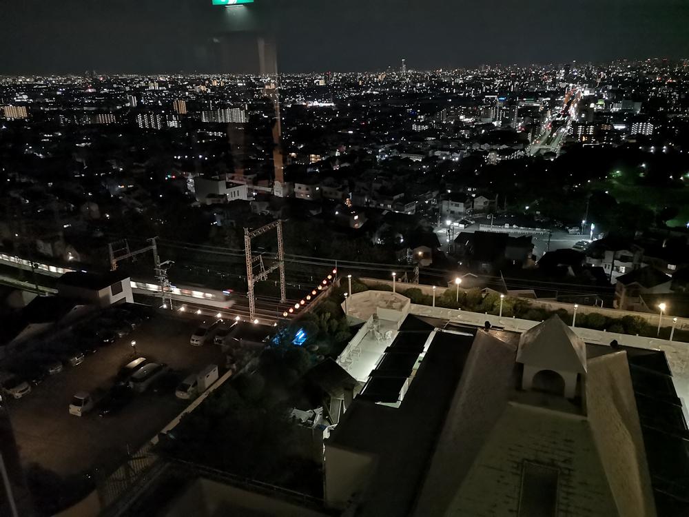 ホテルから見た素晴らしい夜景